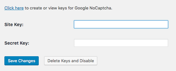 Google reCAPTCHA WordPress Login